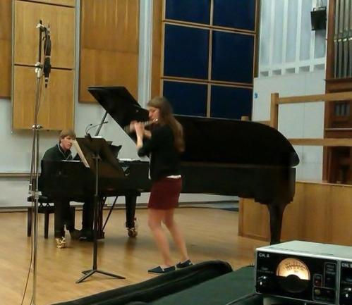Charles Matthews & Katherine Birtles in rehearsal at Birmingham Conservatoire.