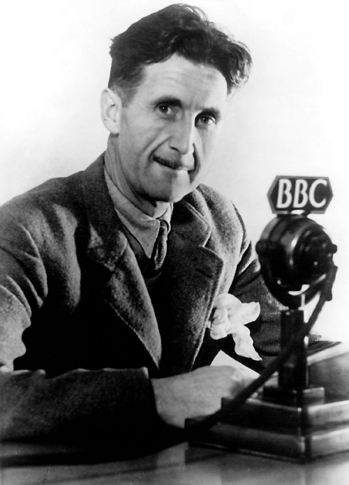Great photograph of George Orwell with STC4017C