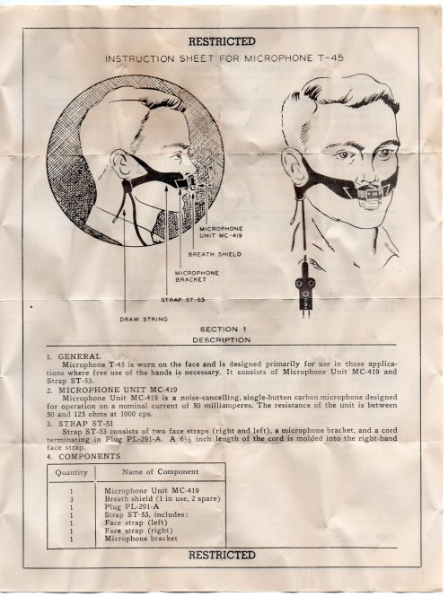 Electro-Voice T45 Instructions 1944