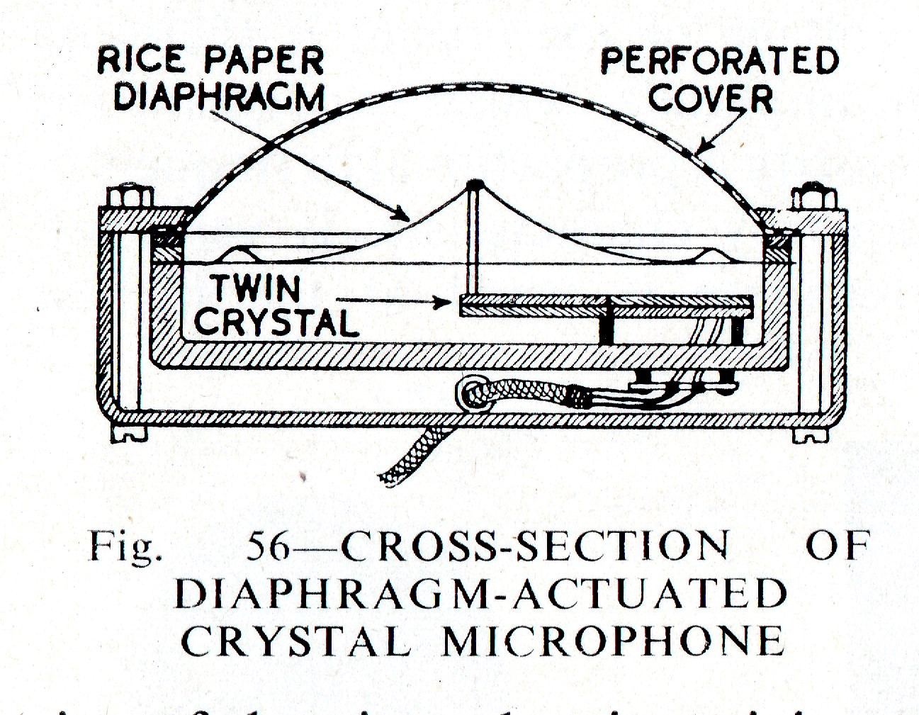 crystal microphone wiring diagram