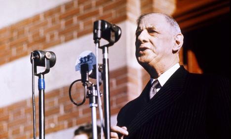 President Charles de Gaulle.