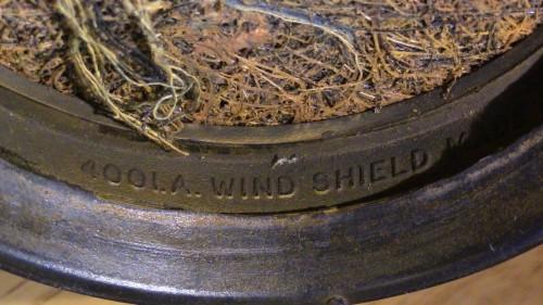 Inside rim of STC4001.A. Wind shield.