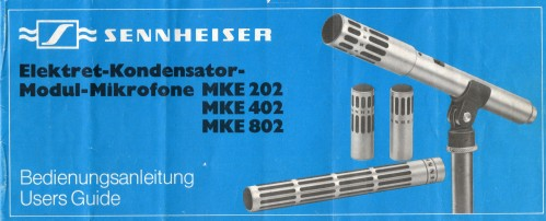Sennheiser MKE 202 User manual