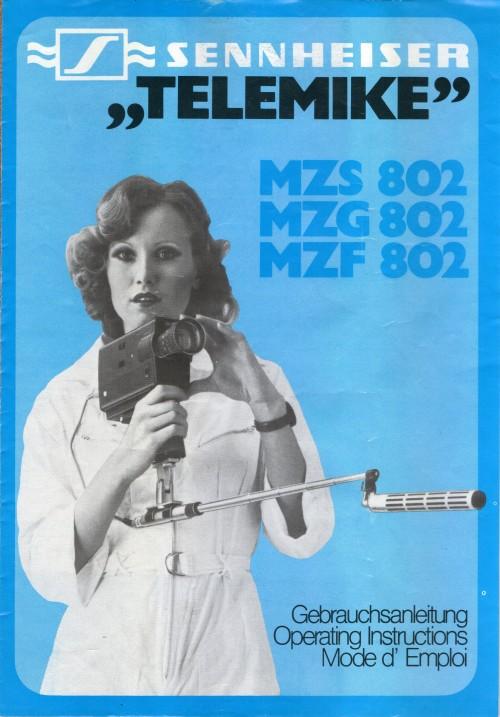 Sennheiser ''Telemike'' Operating Instructions. 1976