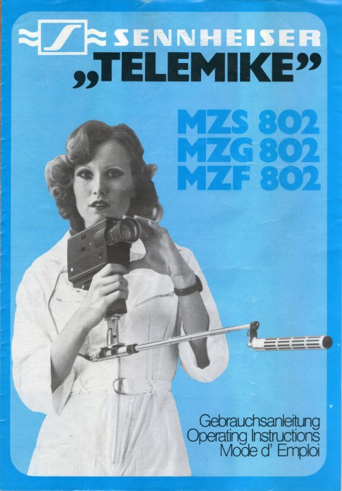 Sennheiser ''Telemike'' Operating Instructions. 1976