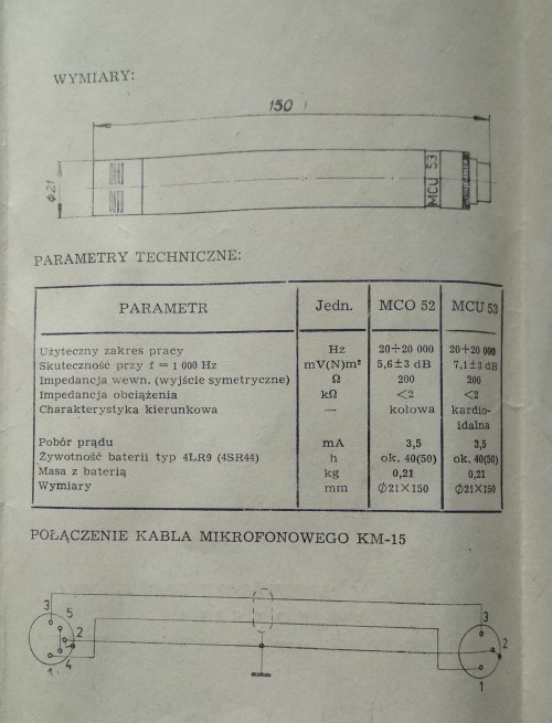UNITRA Tonsil MCU-53 Manual P2