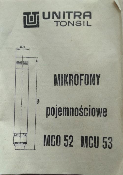 UNITRA Tonsil MCU-53 Manual