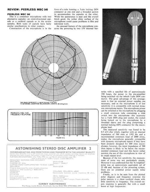 Review. Peerless MBC 540 - Studio Sound - May 1977