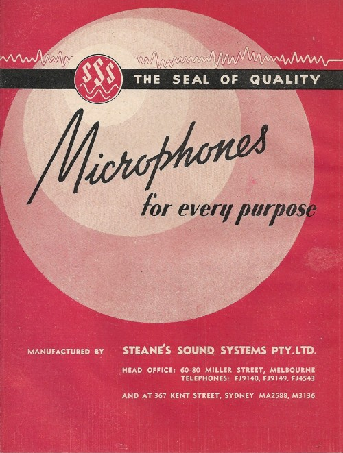 Steane's Microphone Catalogue 1948/9
