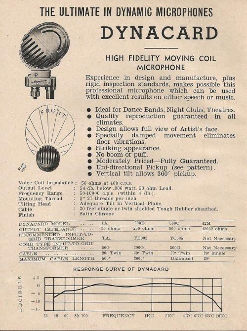 Steane's Microphone Catalogue 1948 P.1