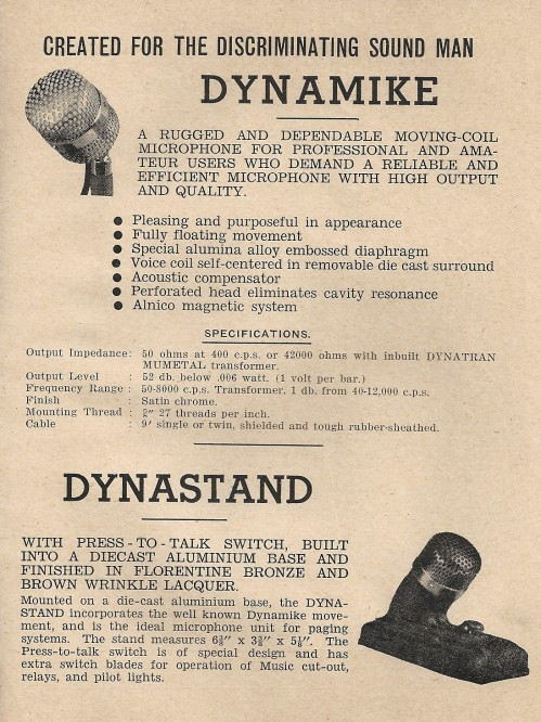 Steane's Microphone Catalogue 1948 P.3
