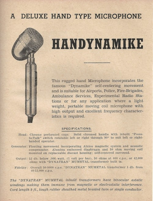 Steane's Microphone Catalogue 1948 P.4