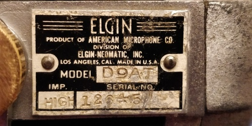 Badge ELGIN American Microphone Company D9AT