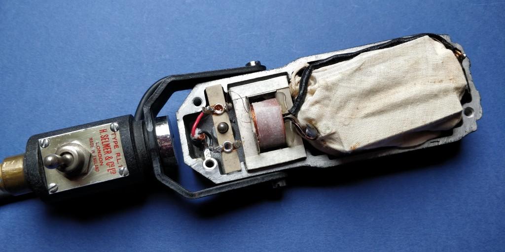 R.S.A. Selmer RL1 Ribbon Microphone Interior.