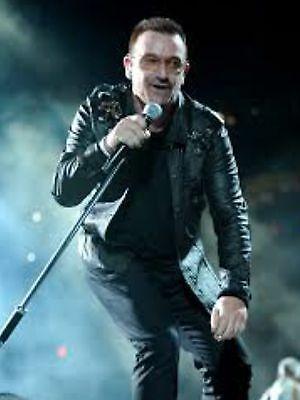Bono of U2 with Valan Atlas Microphone Stand